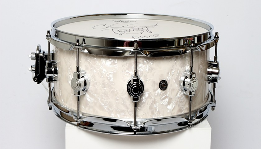 CHAD SMITH – Red Hot Chili Peppers Signed Snare Drum