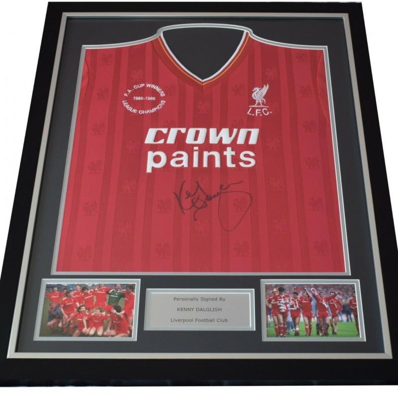 Kenny Dalglish Signed & Framed Liverpool Shirt