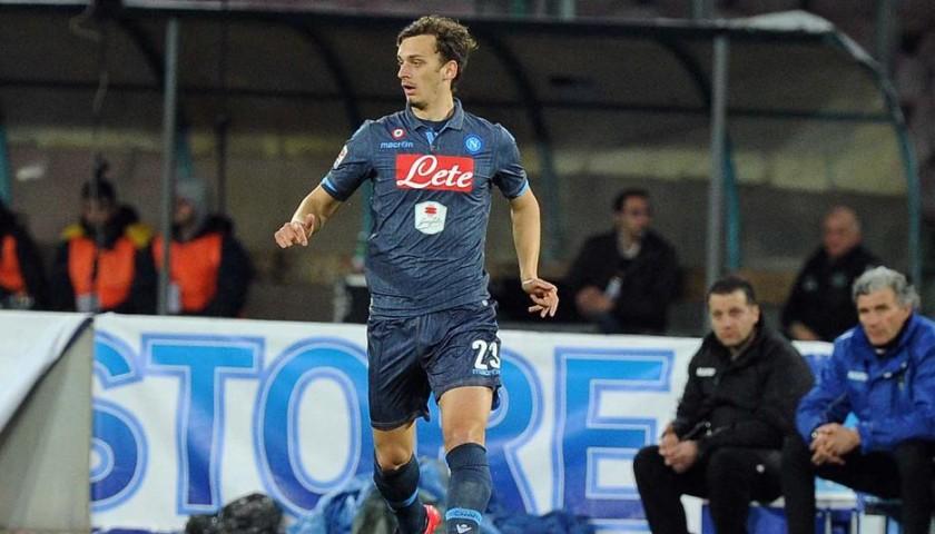 Gabbiadini's Napoli Match Shirt, 2014/15