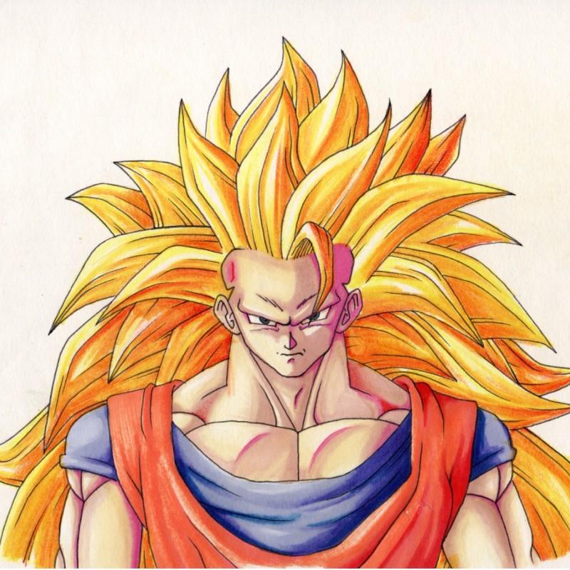 """Dragon Ball """"Goku"""" - Unique Artwork by Manuel Frattini"""