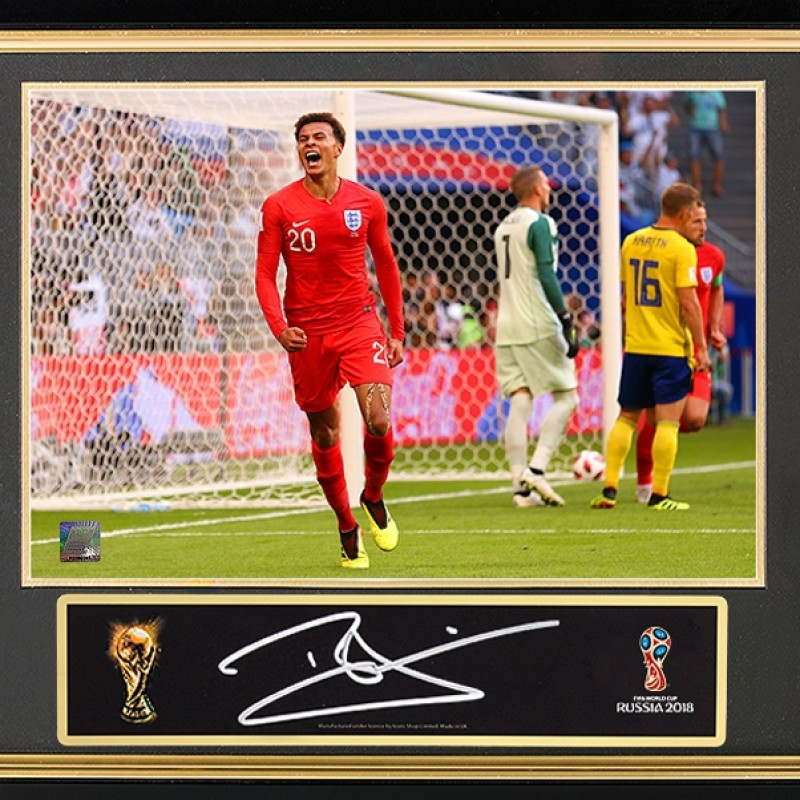 Dele Alli Official FIFA World Cup Signed Plaque