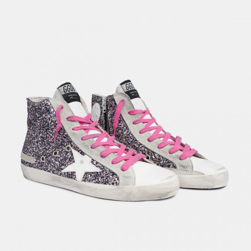 Golden Goose Francy Glitter Sneakers