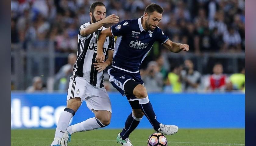 De Vrij's Lazio Worn and Signed Shirt, TIM Cup 2017 Final