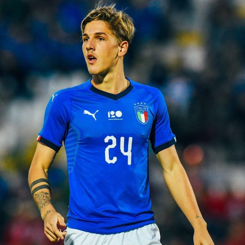 Zaniolo's Match Shirt, Italy-England 2018