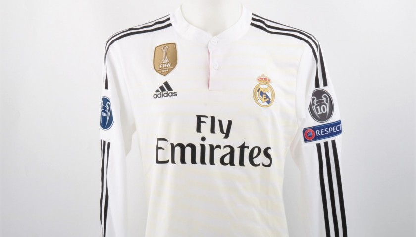 buy popular 5b2d6 8a3ee Benzema Real Madrid Issued/Match worn shirt, Champions League 2014/15 -  CharityStars
