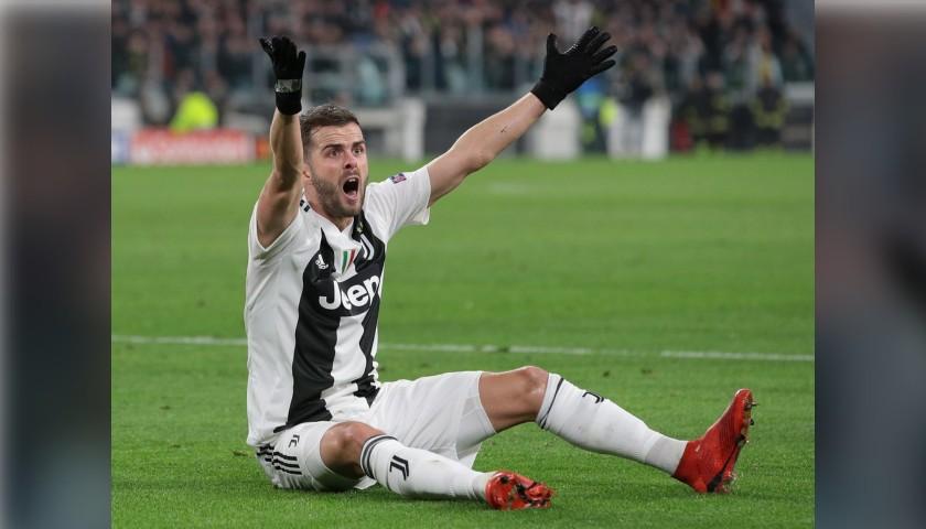 Pjanic's Juventus Worn and Unwashed Shirt, UCL 2018/19