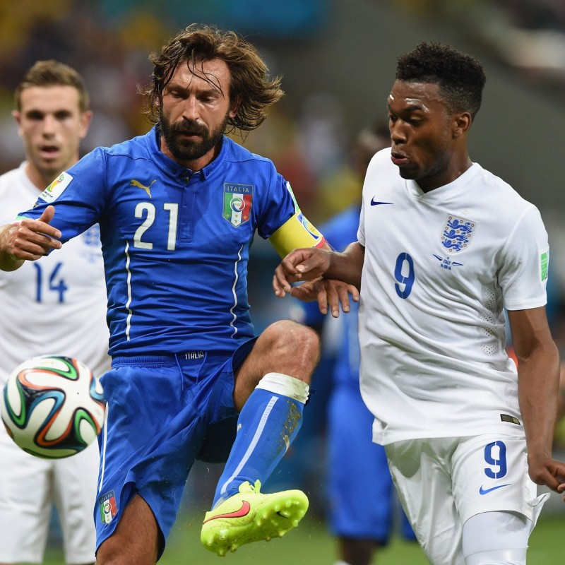 Pirlo's Italy Match Shirt, 2014 World Cup