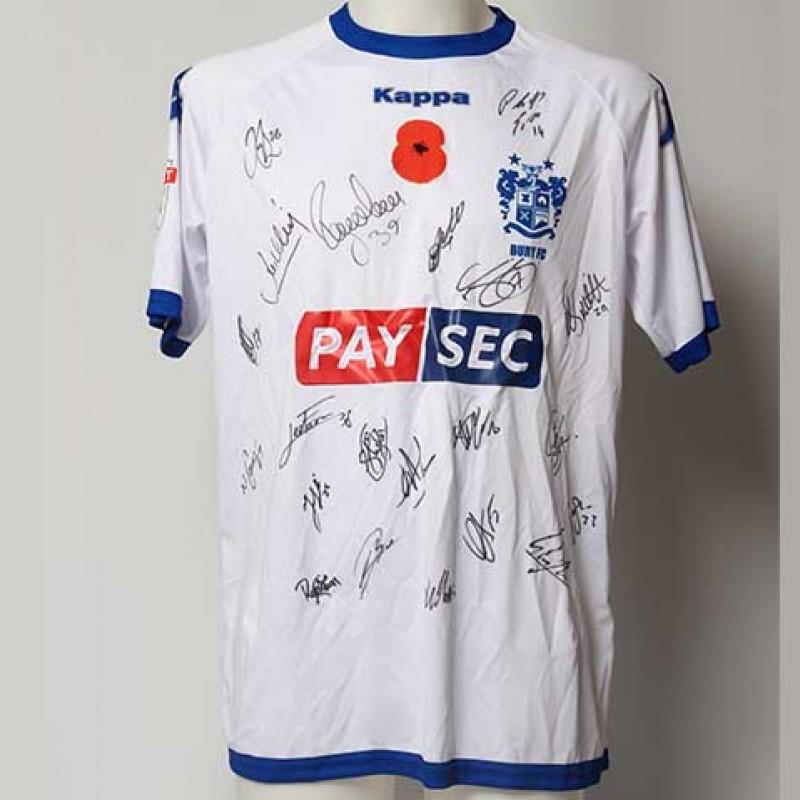 Poppy Shirt Signed by Bury F.C.
