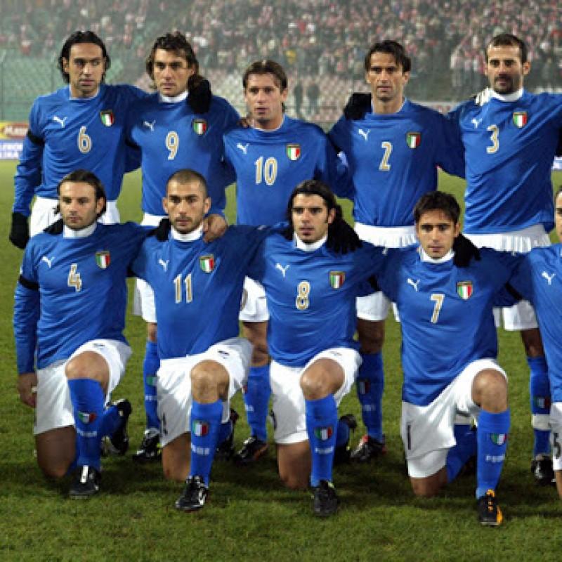 Nesta's Italy Match Shirt, 2003/04