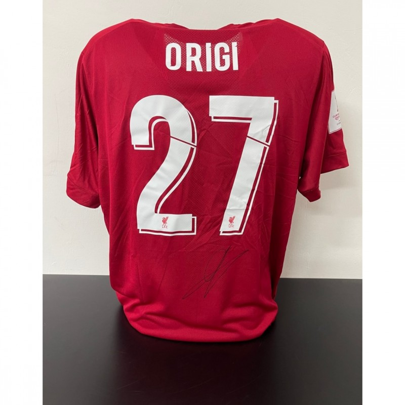 Origi's Official Liverpool Signed Shirt, FIFA Club World Cup 2019