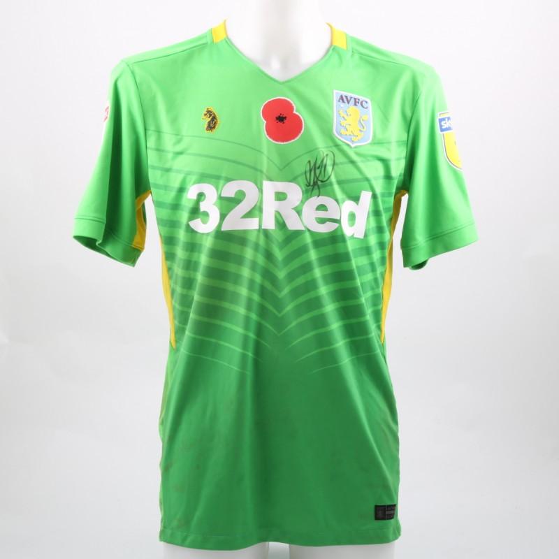 Ørjan Nyland s Worn and Signed Aston Villa Home Poppy Shirt 21cae05eec88
