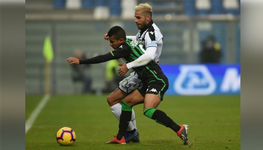 Behrami's Worn Shirt with Special UNICEF Patch, Sassuolo-Udinese