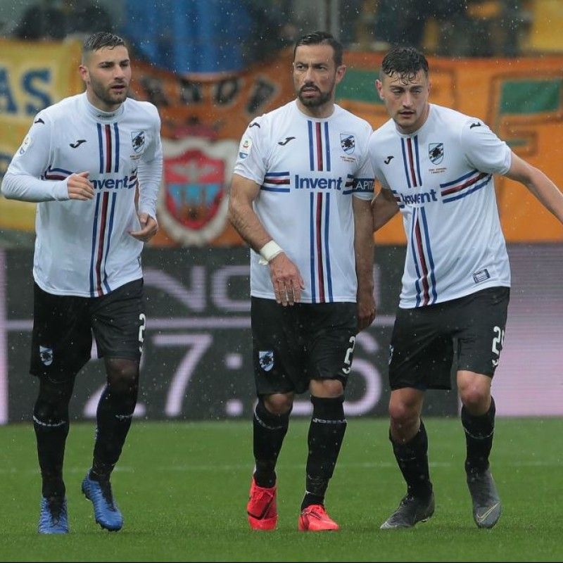 Linetty's Worn Shirt, Parma-Sampdoria - #Blucrociati