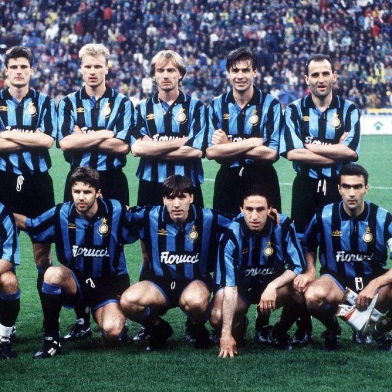 Berti's Inter Match-Issued Shirt, Inter-Salzburg 1994