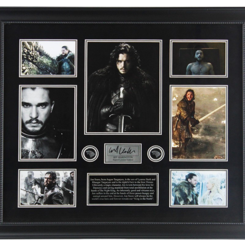 Kit Harrington Signed Game of Thrones Collage