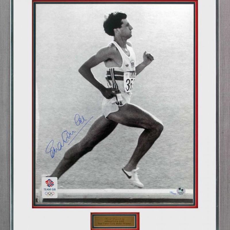 Lord Sebastian Seb Coe Signed Olympic Photograph
