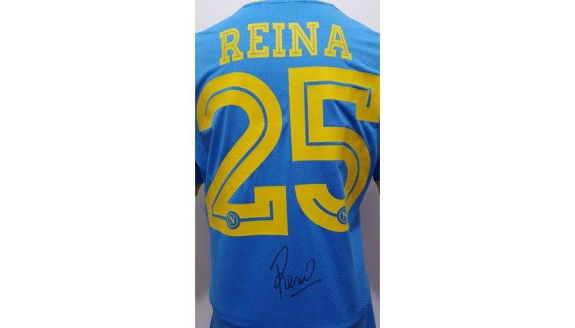 Reina's Match-Issued and Signed Shirt, Latina-Napoli 2015
