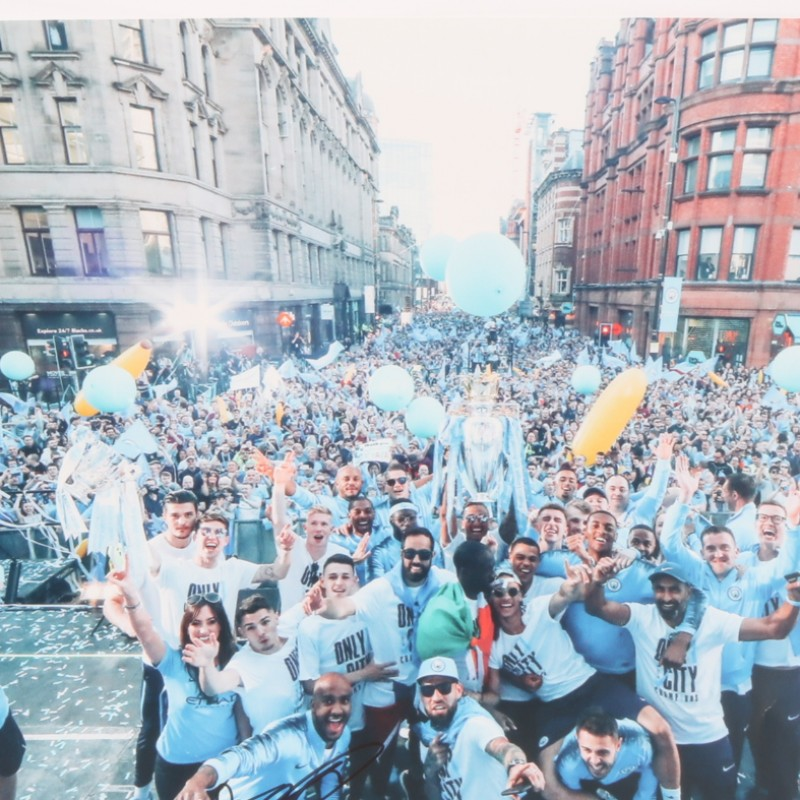 Champions Parade Picture Signed by Delph
