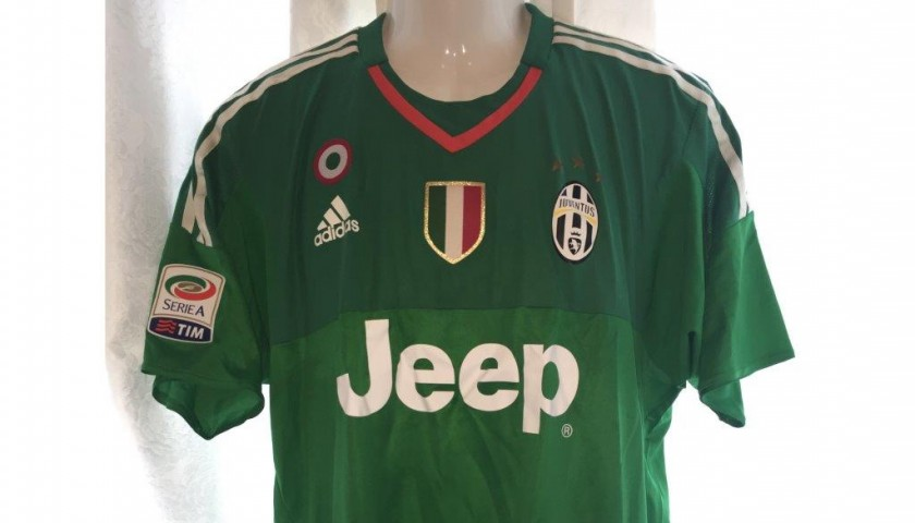 Match worn Buffon shirt, Juventus-Lazio Serie A 20/04/2016