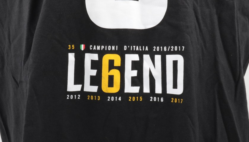 Juventus Scudetto T-shirt - Signed by Claudio Marchisio