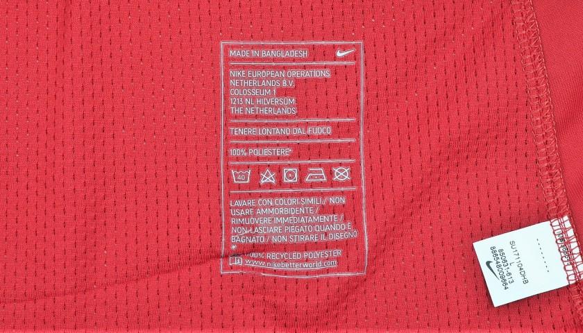Pellegrini's Match-Worn Roma-Cagliari Shirt, Special Sponsor Telethon