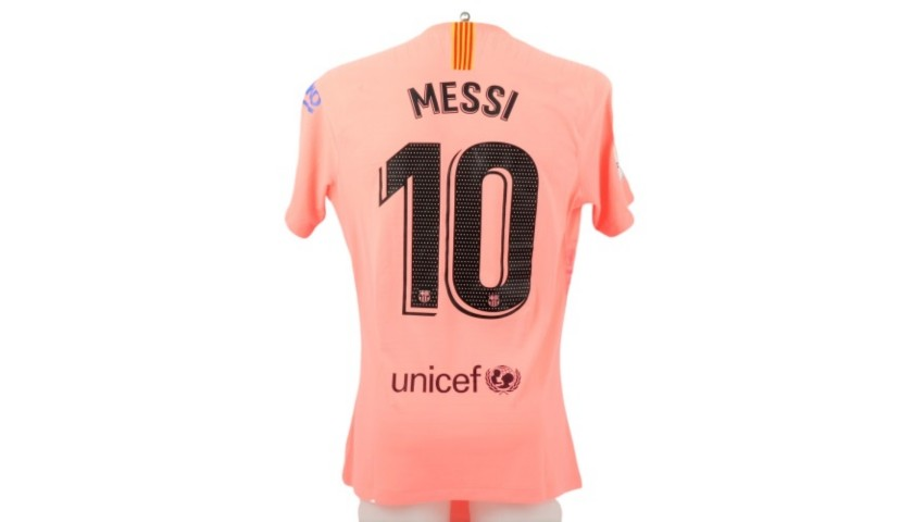 Messi's Barcelona Match Shirt, Liga 2018/19