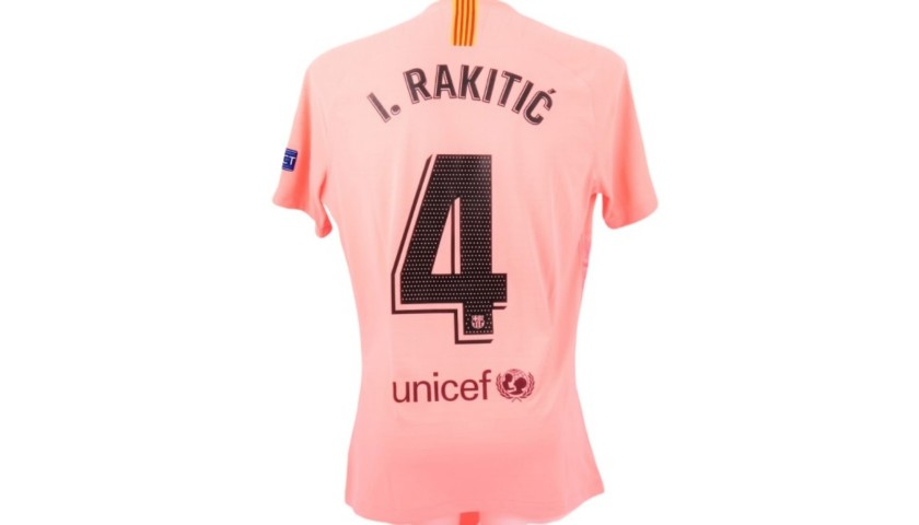 Rakitic's Match Shirt, Inter-Barcelona 2018