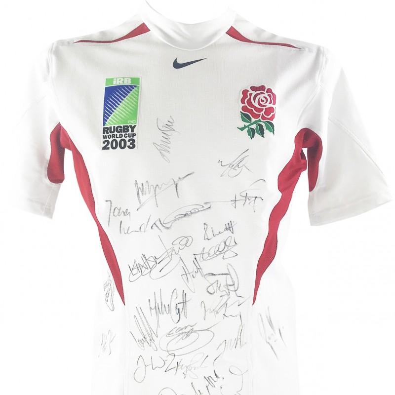 Kyran Bracken Match-Worn Signed Shirt - RWC Champions 2003