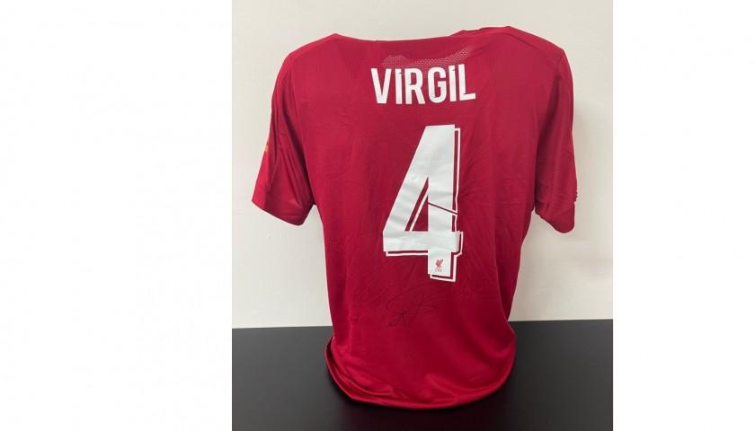 Van Dijk's Official Liverpool Signed Shirt, UEFA Super Cup 2019