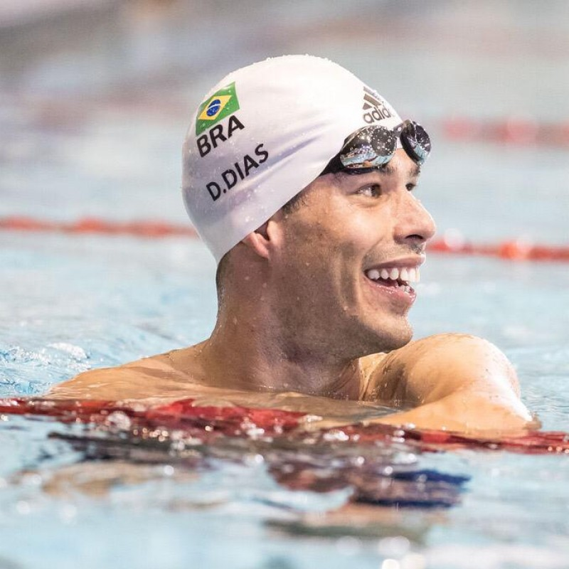 Paralympic Legend Daniel Dias' Worn and Signed Swimming Cap
