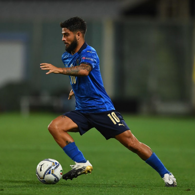 Insigne's Match Shirt, Italy-Bosnia 2020