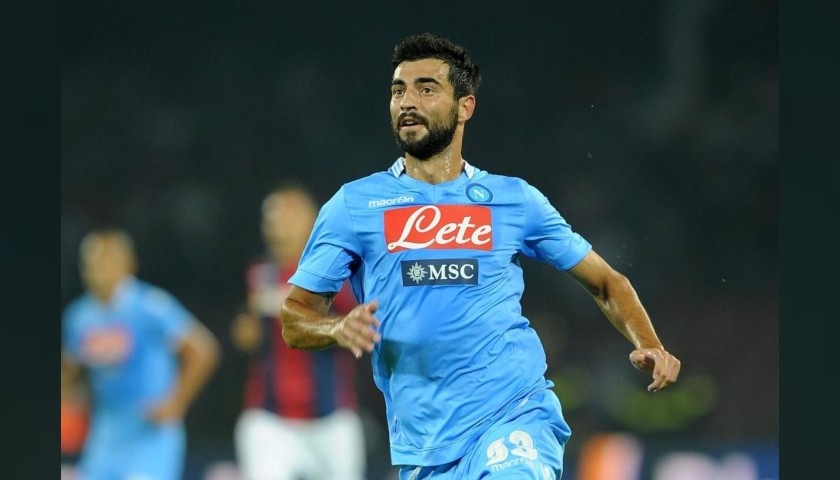 Albiol's Napoli Match Worn and Signed Shirt, 2013/14