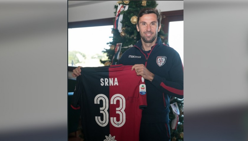 Cagliari Festive Shirt - Worn and Signed by Srna