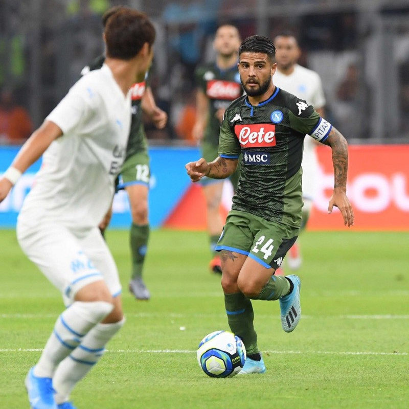 Insigne's Napoli Match Shirt, 2019/20 - Signed by the Players