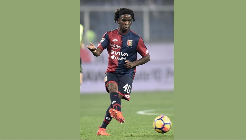 Omeonga's UNWASHED Special Genoa-Sampdoria Match-Worn Shirt