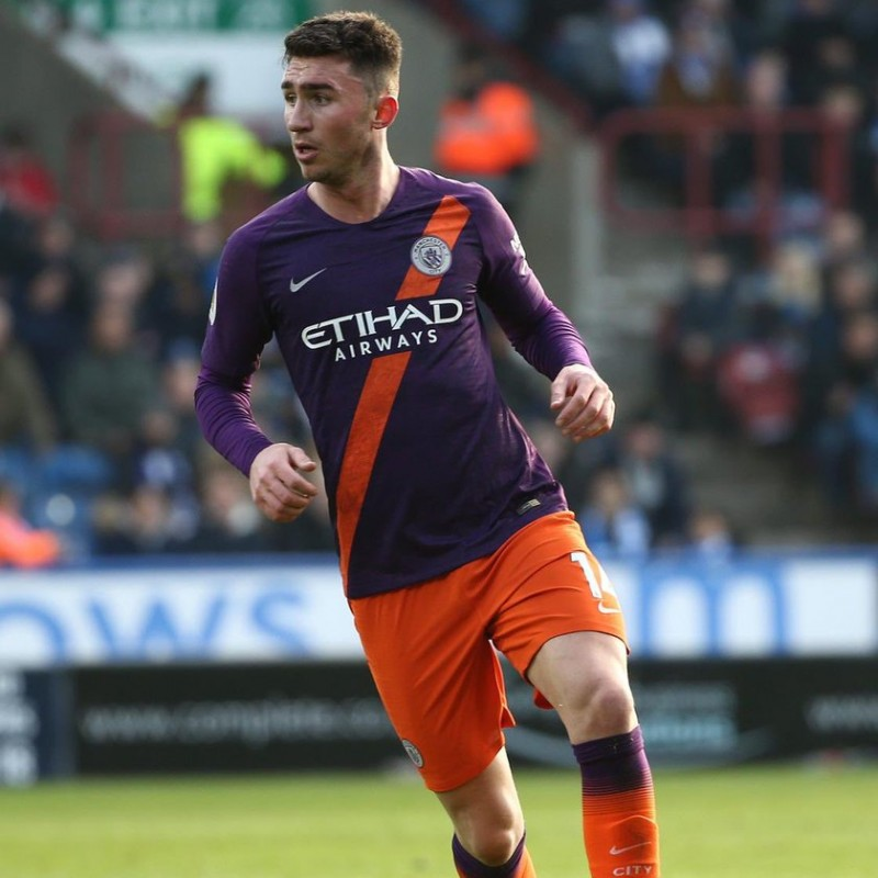 Laporte's Worn Shirt, Huddersfield-Man City 2019