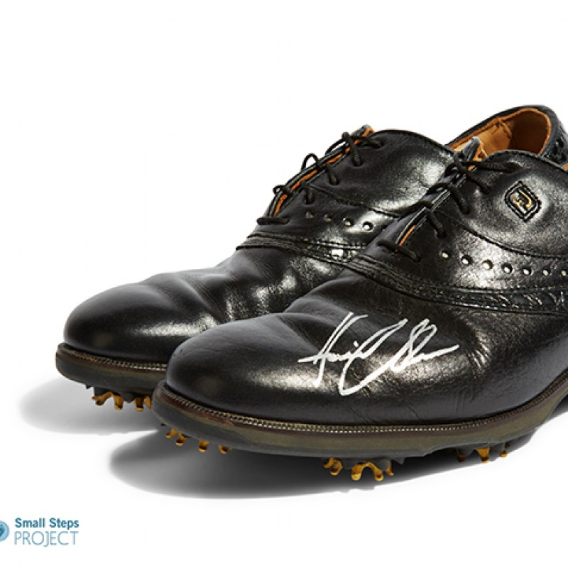 Henrik Stenson's Autographed Icon Black - Foot Joy Golf Brogues from his Personal Collection