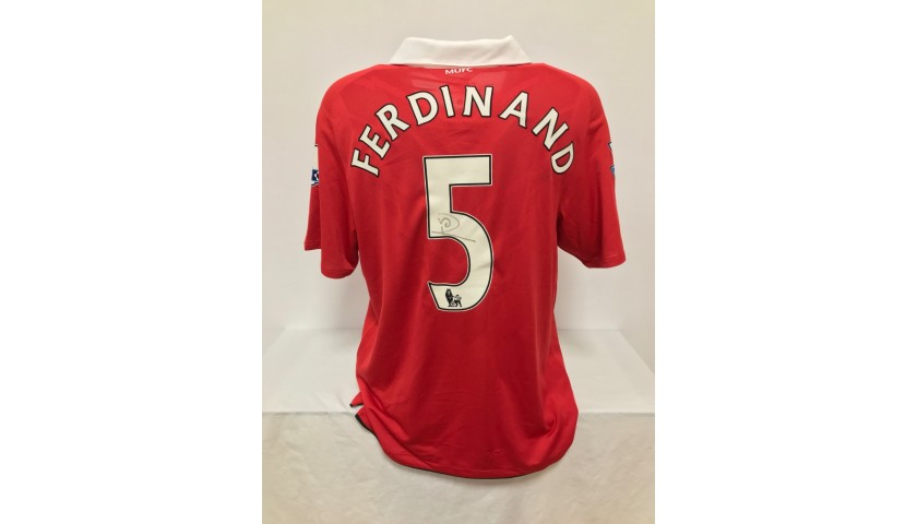 Ferdinand's Official Manchester United Signed Shirt, 2010/2011