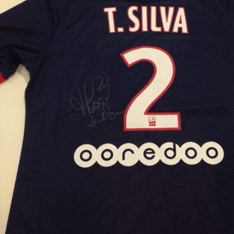 the best attitude fab35 a32ba Thiago Silva match issued shirt, Paris Saint-Germain, Ligue 1 2013/2014 -  signed