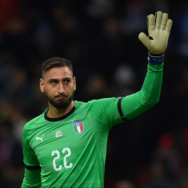 Donnarumma's Italy Match-Issued Shirt, 2018