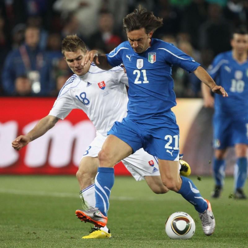 Pirlo's Italy Match-Issue/Worn World Cup 2010 Shirt