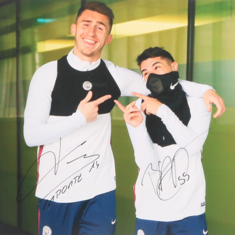 """Training"" Laporte and Diaz Signed Photograph"