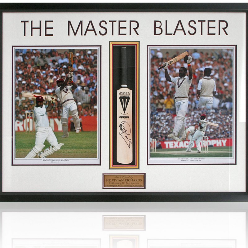 Sir Vivian Richards Hand Signed Mini Cricket Bat
