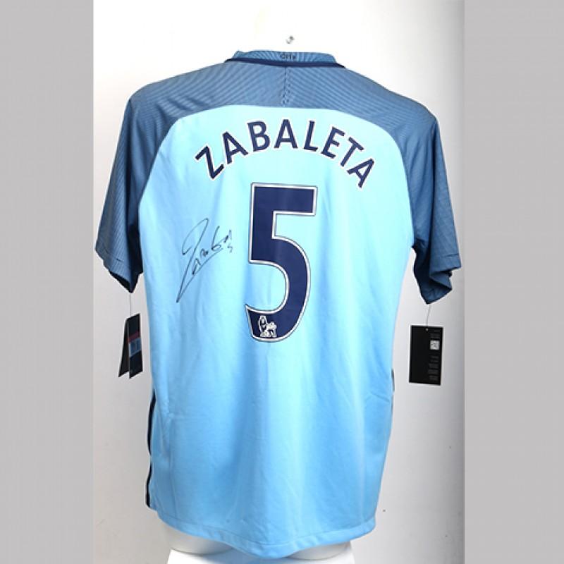 Manchester City official home shirt Pablo Zabaleta
