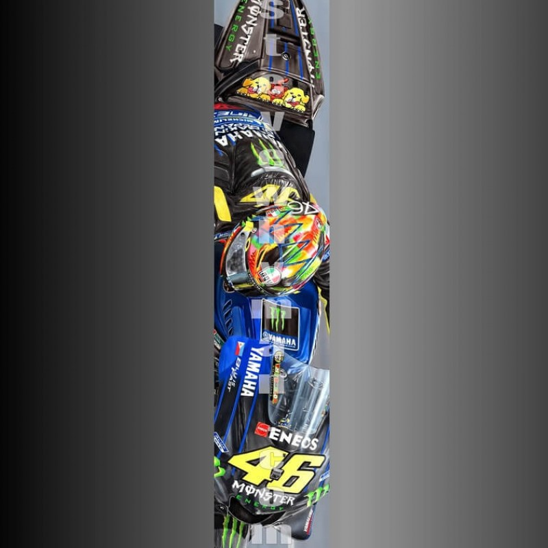 Valentino Rossi Canvas 2020 by Steve Whyman
