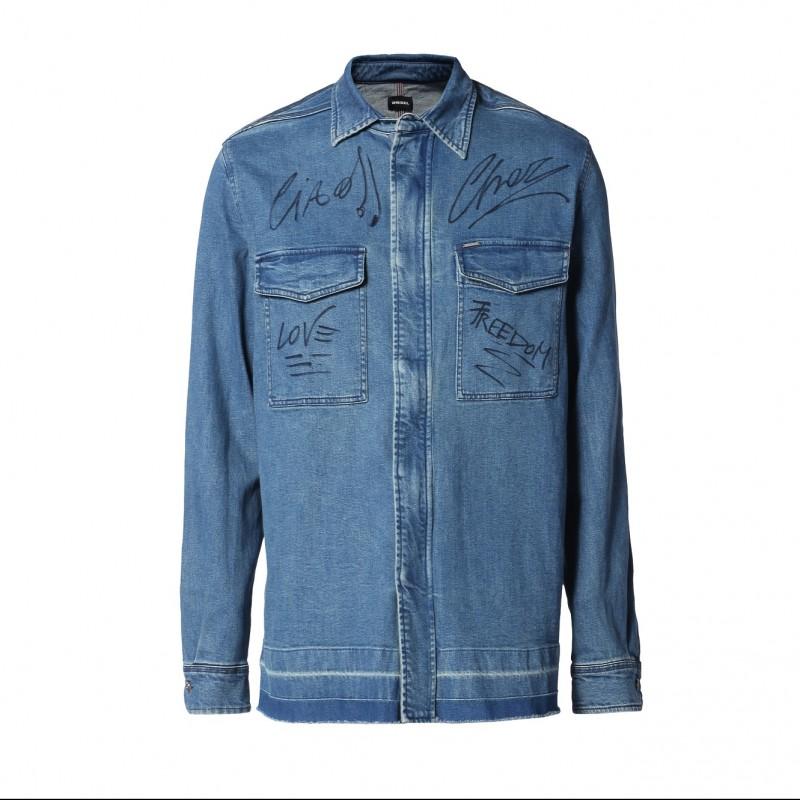 Cesare Cremonini's Customized Diesel Shirt
