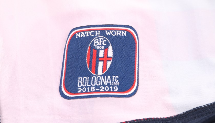 Dzemaili's Bologna Worn and Signed Shirt, 2018/19