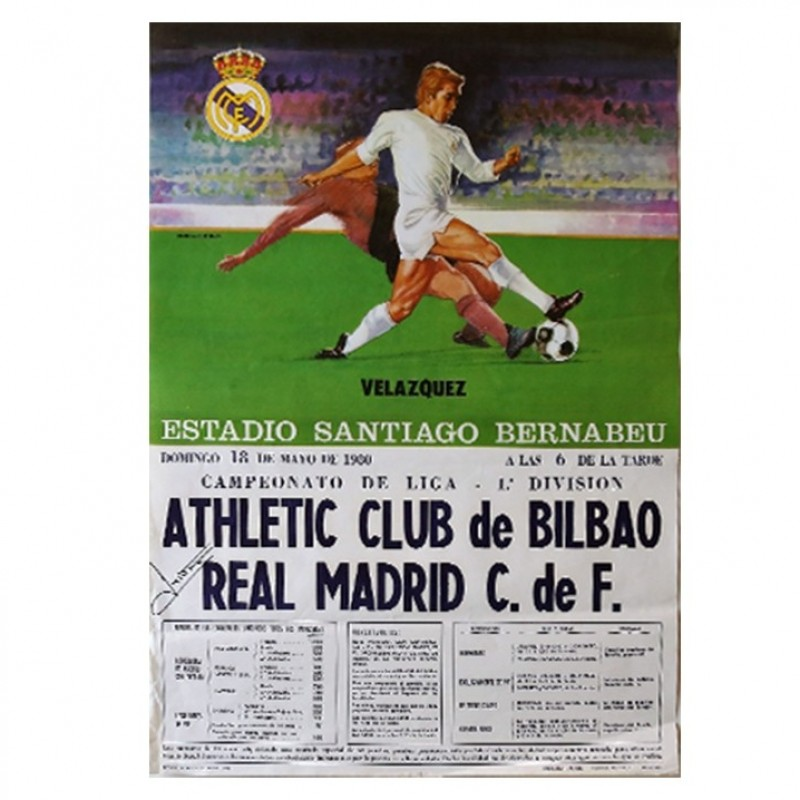 Real Madrid 1980 Historical Poster - Signed by Isidro