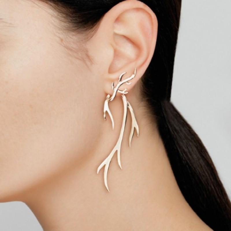 """Twig"" Earrings by Federica Tosi"