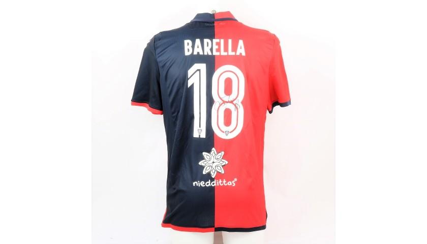 Barella's Official Cagliari Signed Shirt, 2018/19
